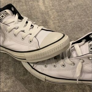 Converse Shoes - White leather Converse sneakers